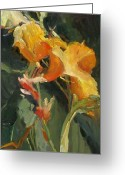 Canna Greeting Cards - Canna Greeting Card by Elizabeth Taft