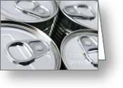 Aluminum Greeting Cards - Canned food Greeting Card by Carlos Caetano