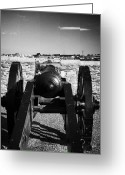 Canons Greeting Cards - Cannon On Church Bastion Facing Out On The 17th Century Walls Of Derry City Greeting Card by Joe Fox