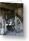 Peter French Greeting Cards - Cannon Storage Greeting Card by Peter Chilelli