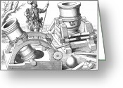 Cannonball Greeting Cards - Cannons, 1575 Greeting Card by Granger