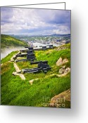 Signal Photo Greeting Cards - Cannons on Signal Hill near St. Johns Greeting Card by Elena Elisseeva
