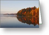 Reds Greeting Cards - Canoe Lake  Algonquin Greeting Card by Pat Speirs