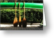 Coulourful Greeting Cards - Canoe To Nowhere Greeting Card by Alec Drake