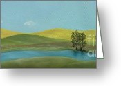Estephy Sabin Figueroa Greeting Cards - Canola Country Greeting Card by Estephy Sabin Figueroa