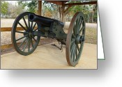 Robyn Stacey Photo Greeting Cards - Canon at Fort Washita Greeting Card by Robyn Stacey