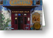 Street Scene Greeting Cards - cantina Ala Greeting Card by Guido Borelli