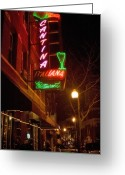 Eateries Greeting Cards - Cantina Italiana Greeting Card by Joann Vitali