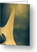 Abstract Greeting Cards - Canvas Sky Greeting Card by Bob Orsillo