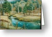 Ruth Gee Greeting Cards - Canyon Creek Greeting Card by Ruth Gee