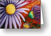 Aster  Painting Greeting Cards - Canyon Flower Greeting Card by Dixie Hester