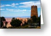 Forest Greeting Cards - Canyon Look Out Greeting Card by The Kepharts
