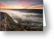 Twilight Greeting Cards - Canyon of Mists Greeting Card by Evgeni Dinev