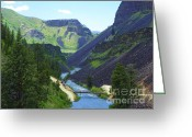National Mixed Media Greeting Cards - Canyon of the Boise River - Idaho Landscapes Greeting Card by Photography Moments - Sandi