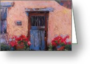 Adobe Pastels Greeting Cards - Canyon Road Greeting Card by Julia Patterson
