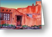 Tj Shinas Greeting Cards - Canyon Road Greeting Card by TJ Shinas