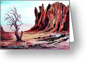Tj Shinas Greeting Cards - Canyon Spirit Greeting Card by TJ Shinas