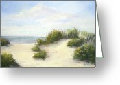 Shore Painting Greeting Cards - Cape Afternoon Greeting Card by Vikki Bouffard