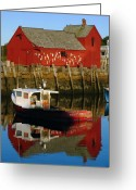 Rockport Ma Greeting Cards - Cape Ann Photography Greeting Card by Juergen Roth
