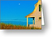 Cape Cod Mass Photo Greeting Cards - Cape Cod Bay House Greeting Card by Linda Pulvermacher