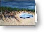 Beach Grass Greeting Cards - Cape Cod Boat Greeting Card by Paul Walsh