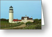 New England Lighthouse Greeting Cards - Cape Cod Highland Lighthouse Greeting Card by Juergen Roth