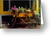 Bicycle Greeting Cards - Cape Cod Petals Greeting Card by Diane E Berry