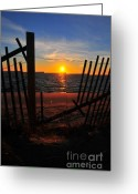 The Cape Greeting Cards - Cape Cod Sunset Greeting Card by Catherine Reusch  Daley