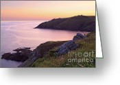 Cape Cornwall Greeting Cards - Cape Cornwall to Kenidjack Castle Greeting Card by Richard Thomas
