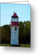 Old Relics Greeting Cards - Cape Crocker Lighthouse Greeting Card by Cyryn Fyrcyd