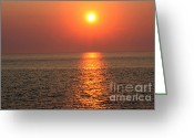 Gloaming Greeting Cards - Cape May Sunset 2 Greeting Card by Susan Stevenson