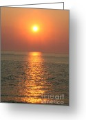 Gloaming Greeting Cards - Cape May Sunset Greeting Card by Susan Stevenson