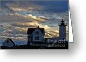 Cape Neddick Light Station Greeting Cards - Cape Neddick Light Station Greeting Card by Scott Moore