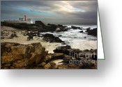 Signal Greeting Cards - Cape Raso Greeting Card by Carlos Caetano