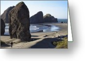 Southern Oregon Photo Greeting Cards - Cape Sebastian - Hunters Cove Area- Oregon Coast Greeting Card by Daniel Hagerman