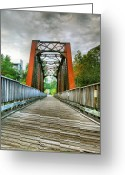 Jogging Photo Greeting Cards - Caperton Trail and Bridge Greeting Card by Steven Ainsworth