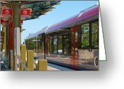 2008 Greeting Cards - Capital Metro Rail Austin Texas Greeting Card by James Granberry