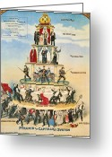 Political Acts Greeting Cards - Capitalist Pyramid, 1911 Greeting Card by Granger