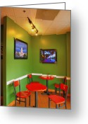 Cities Greeting Cards - Capitol Hill Cafe Greeting Card by Steven Ainsworth