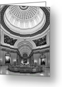 Legislature Greeting Cards - Capitol Interior Greeting Card by Ricky Barnard