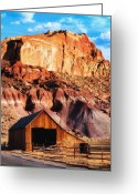 Pioneer Park Greeting Cards - Capitol Reef National Park UT Greeting Card by Utah Images