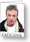 T Shirts Greeting Cards - Capn Cook Greeting Card by Tom Roderick
