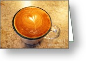Barista Greeting Cards - Cappuccino Everyone Wants Greeting Card by Ausra Paulauskaite
