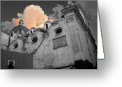 Dusk Greeting Cards - Capri church Greeting Card by Jim Wright