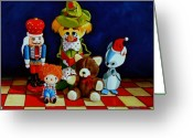 Ornaments Painting Greeting Cards - Captain Candycorns Dollhouse Choir Greeting Card by Doug Strickland