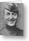 Air Painting Greeting Cards - Captain Eddie Rickenbacker Greeting Card by War Is Hell Store