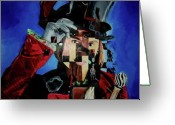 Willy Wonka Greeting Cards - Captain Jack Wonka Willy Sparrow Johnny Depp Greeting Card by Kristin Wetzel