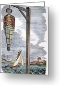 Piracy Greeting Cards - Captain William Kidd, 1701 Greeting Card by Granger