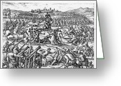 Helmet Greeting Cards - Capture Of Atahualpa, 1532 Greeting Card by Granger