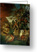 Pirates Painting Greeting Cards - Capture of Azov Greeting Card by Sir Robert Kerr Porter